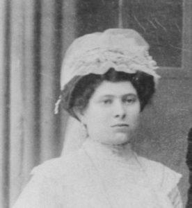 Róth Anna at wedding, ~1911 in Nyirjako, Hungary
